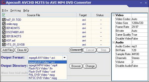 Apecsoft m2ts to avi mp4 dvd Converter